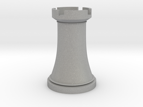 Chess Rook in Aluminum