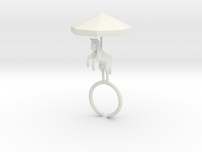 Carousel Ring in White Natural Versatile Plastic