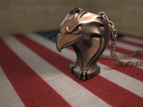 Eagle(Pendant) in Polished Bronze