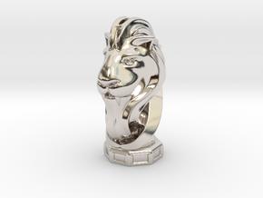 LionHeart(Pendant) in Rhodium Plated Brass