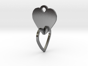 heart of the ring to connect with heart in Polished Silver