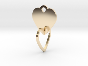 heart of the ring to connect with heart in 14K Yellow Gold