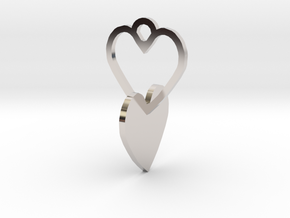heart to connect with heart of the ring in Rhodium Plated Brass