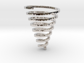 Ross Spiral Jewelry? (25mm tall) in Rhodium Plated Brass