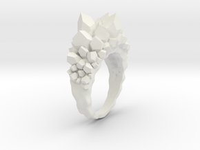Crystal Ring Size 7.5 in White Natural Versatile Plastic