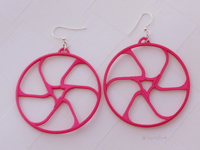 Triad Earring/Pendant in Pink Strong & Flexible Polished