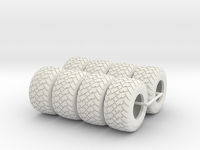 1/64 600/50x22.5 Ag Tires  in White Strong & Flexible
