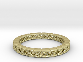 Wave Rings Size13-fixed in 18k Gold Plated Brass