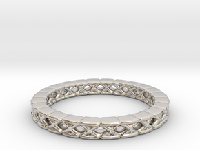 Wave Rings Size13-fixed in Rhodium Plated Brass