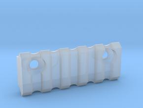 5 slot Keymod side Picatinny rail  in Smooth Fine Detail Plastic