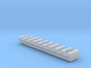 9 slot Keymod Picatinny rail in Smooth Fine Detail Plastic