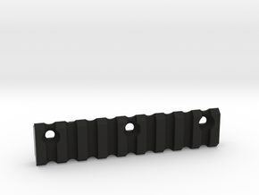 9 slot Keymod side Picatinny rail in Black Natural Versatile Plastic