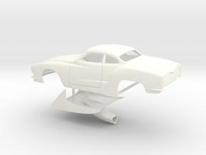 1/32 Legal Pro Mod Karmann Ghia in White Strong & Flexible Polished