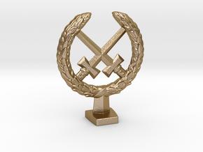 Laurel Crown in Polished Gold Steel
