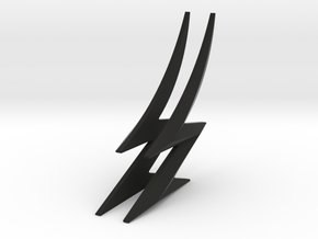 THE FLASH - Zoom Cowl Lightning Bolts in Black Natural Versatile Plastic