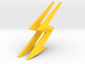 THE FLASH - Cowl & Belt Lightning Bolts in Yellow Processed Versatile Plastic