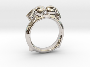 Ring of Bunnies in Rhodium Plated Brass