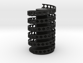 Spiral Stairs DNA in Black Natural Versatile Plastic