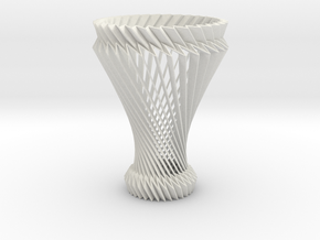 Hyperboloid Decorative Lamp V2 in White Natural Versatile Plastic