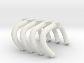 Altered Headers 1/24 in White Natural Versatile Plastic