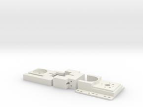 Syringe Pump Components in White Natural Versatile Plastic
