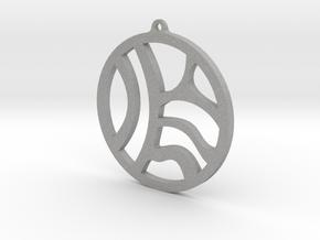 Tribal Earring/Pendant in Aluminum