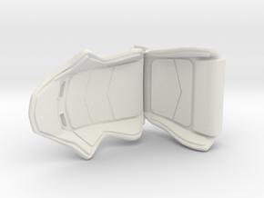 Racing Seat 1/24 in White Natural Versatile Plastic