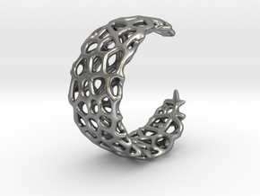 Voronoi Ring - Adjustable Sizing in Natural Silver