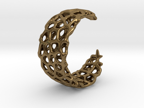 Voronoi Ring - Adjustable Sizing in Natural Bronze