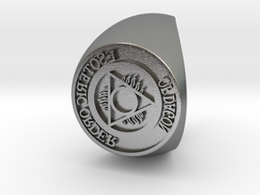 Esoteric Order Of Dagon Signet Ring Size 13.5 in Natural Silver