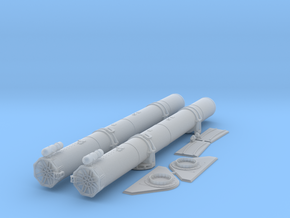 1/48 Forward Torpedo Tubes for PT Boats in Smooth Fine Detail Plastic