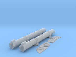 1/48 Aft Torpedo Tubes for PT Boats in Smooth Fine Detail Plastic