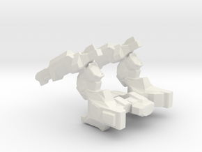 Cargo Crusher Spaceship in White Natural Versatile Plastic