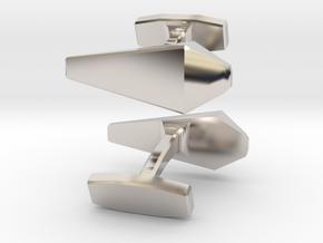 James Bond Cufflinks in Rhodium Plated Brass