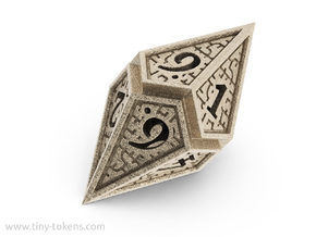Hedron D10: Open (Hollow), balanced gaming die in Stainless Steel