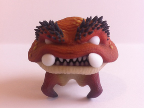 Mushroom Monster 3D Print in Full Color Sandstone