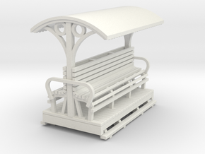 55n9 Longitudinal seat open coach   in White Natural Versatile Plastic