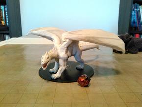 White Dragon (Updated) in Black Natural Versatile Plastic
