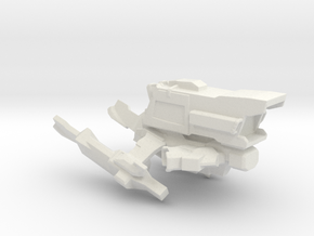 Interplanetary Tiger Spaceship in White Natural Versatile Plastic
