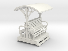55n9 Longitudinal seat open coach  short in White Natural Versatile Plastic