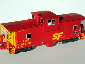 Caboose ATSF Battery Box in Smooth Fine Detail Plastic