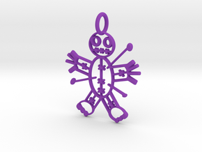 Voodoo Doll of Halloween Pendant in Purple Processed Versatile Plastic