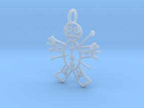 Voodoo Doll of Halloween Pendant in Smooth Fine Detail Plastic