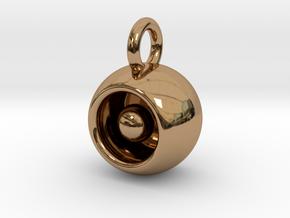 Levitation Sphere Pendant in Polished Brass