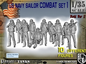 1/35 US Navy Sailors Combat SET 1 in Smooth Fine Detail Plastic