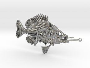 Bluegill With Fishhook in Raw Silver