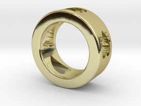 LOVE RING Size-4 in 18k Gold Plated Brass