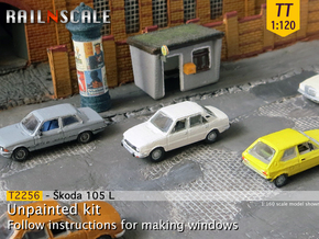 Skoda 105 L (TT 1:120) in Smooth Fine Detail Plastic