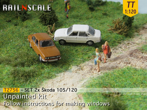 SET 2x Skoda 105/120 (TT 1:120) in Smooth Fine Detail Plastic
