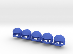 5 x European Fire Helmet V (tbn) in Blue Processed Versatile Plastic